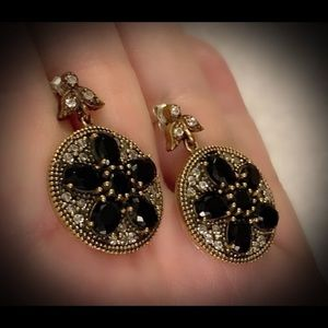 Exquisite Midnight Star Sapphire silver Earrings